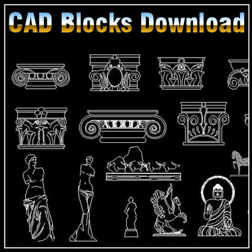 Decoration Elements Block Bundle V1 】★ Cad Files Dwg