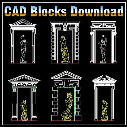 European Classical Elements Blocks Bundle】★ Cad Files