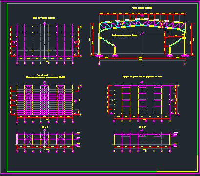 Long span steel building - CAD Files, DWG files, Plans and Details