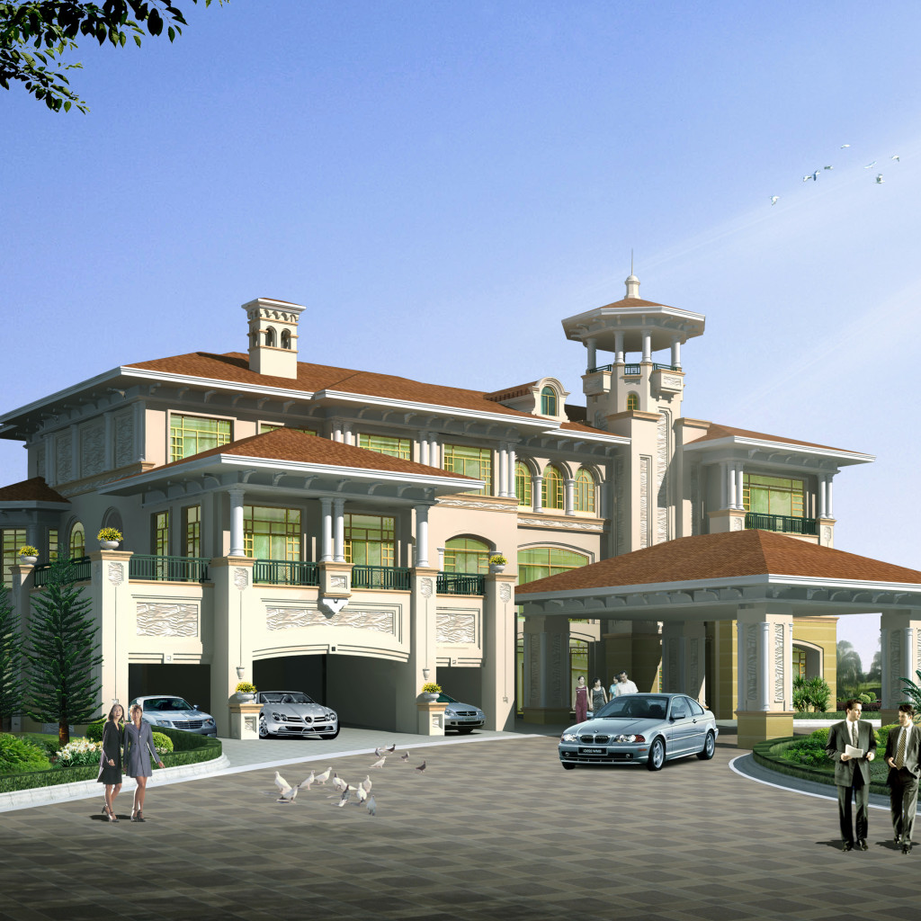 Luxury villa plans 3 cad files dwg files plans and for Luxury villa plan