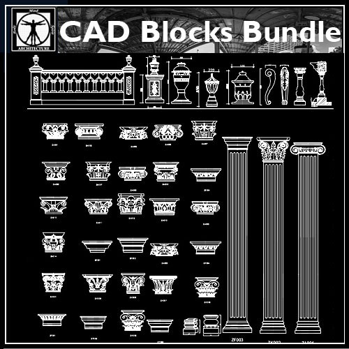 ★【Architectural decorative blocks】★ - CAD Files, DWG files, Plans and  Details