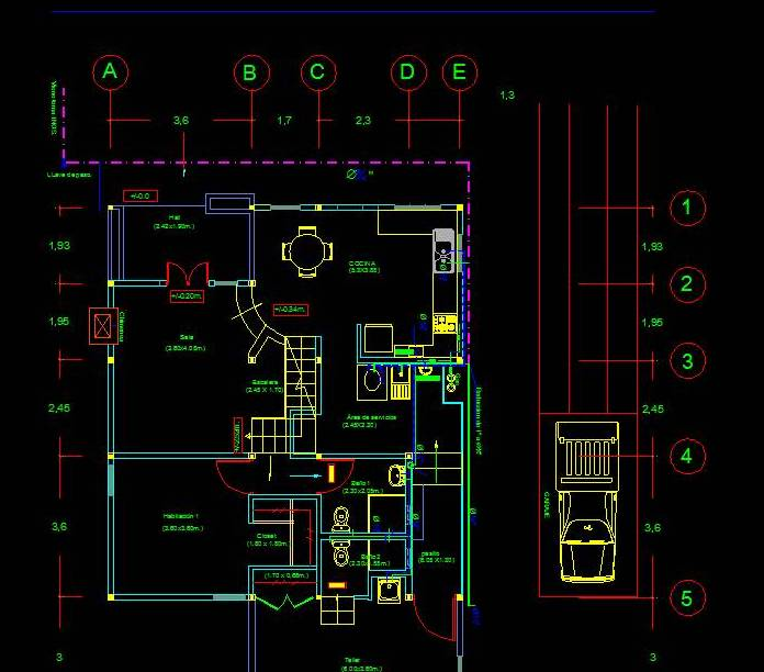 Plan Plumbing Distribution Of 2 Floor House Cad Files Dwg Files Plans And Details
