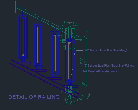 Detail of railing - CAD Files, DWG files, Plans and Details