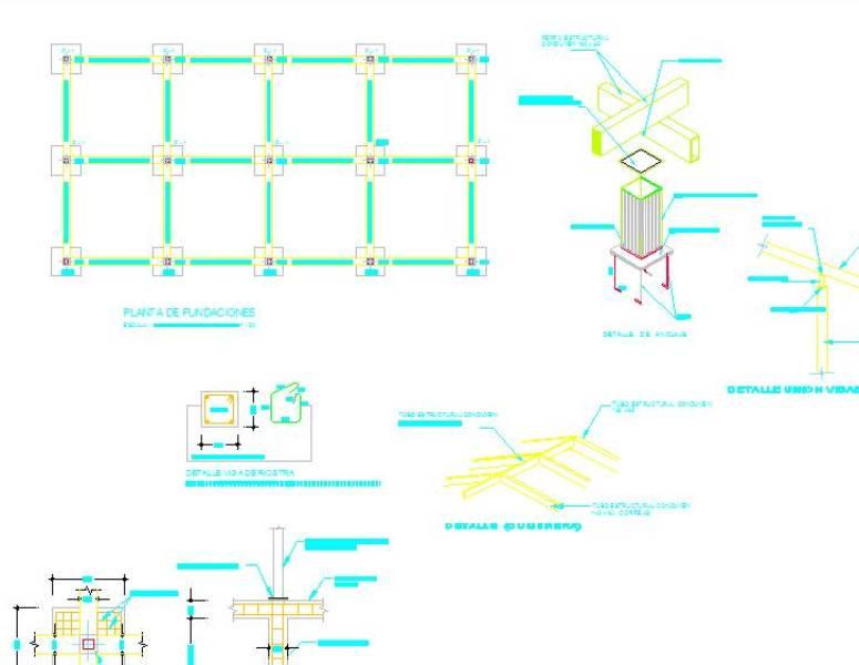 Plano De Estructura De Casa Cad Files Dwg Files Plans