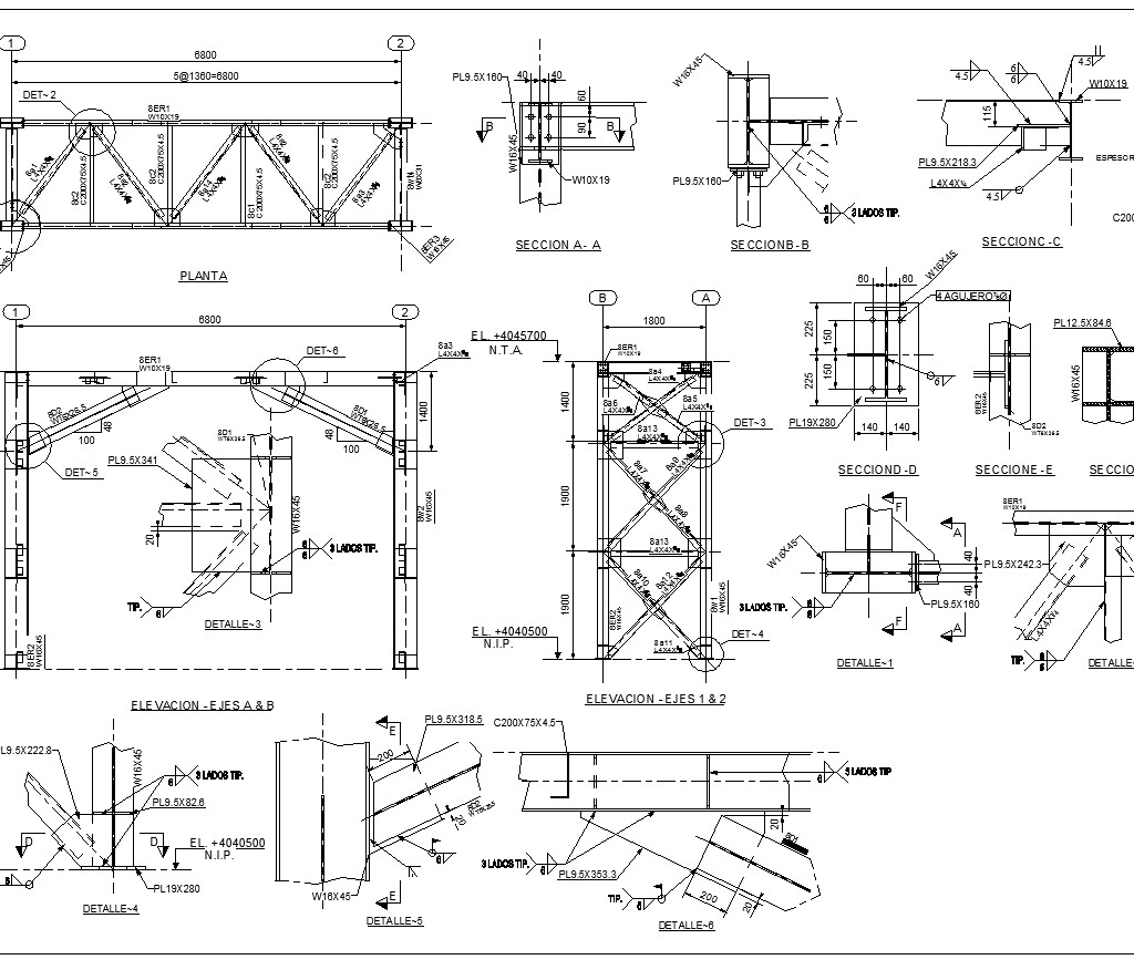 ★【Steel Structure Details V3】★ - CAD Files, DWG files, Plans and Details