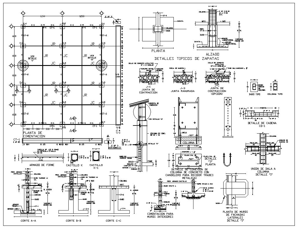 Foundation details v1 cad files dwg files plans and for Foundation blueprints