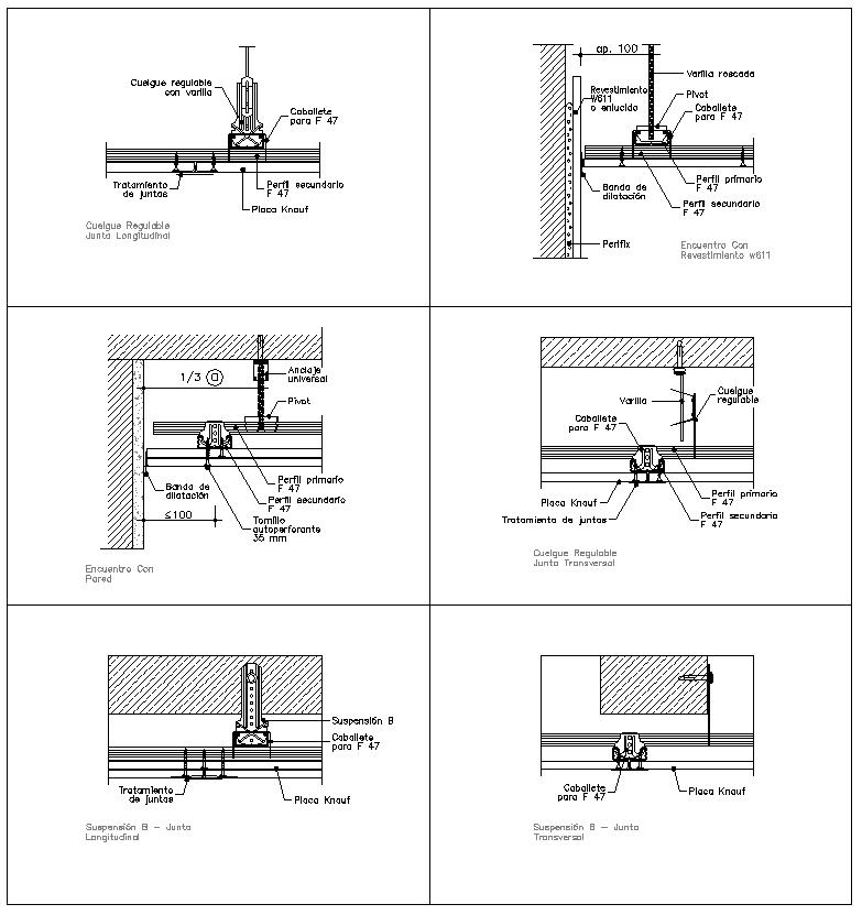 Ceiling Details V1】★ Cad Files Dwg Files Plans And Details