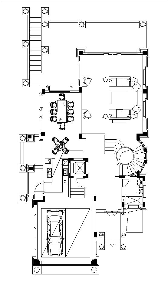 luxury villa plans 6 cad files dwg files plans and. Black Bedroom Furniture Sets. Home Design Ideas