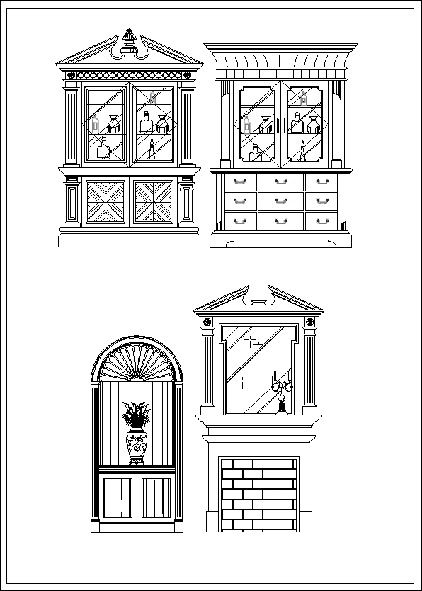 Furniture Design Elevation Cad Files Dwg Files Plans And