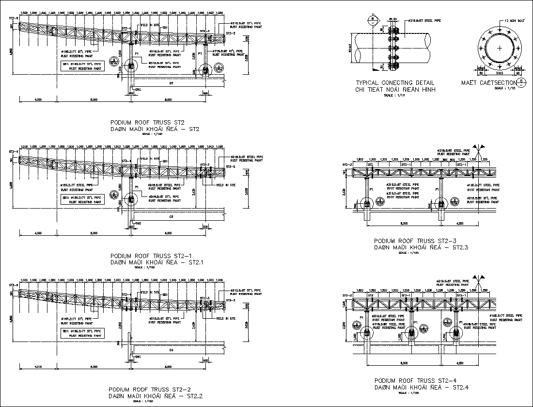 Truss structure details v7 cad files dwg files plans for How to read structural blueprints
