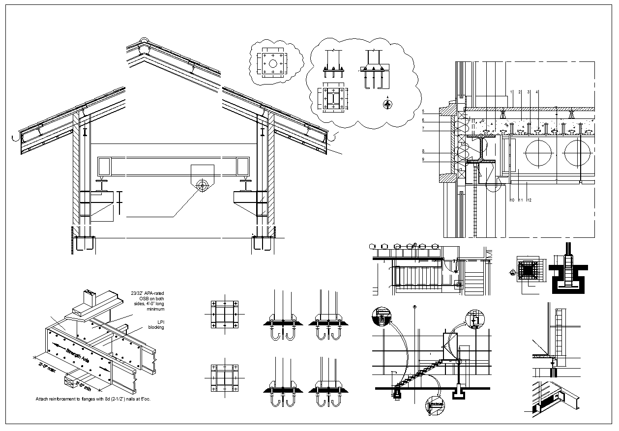 Steel structure details dwg free download