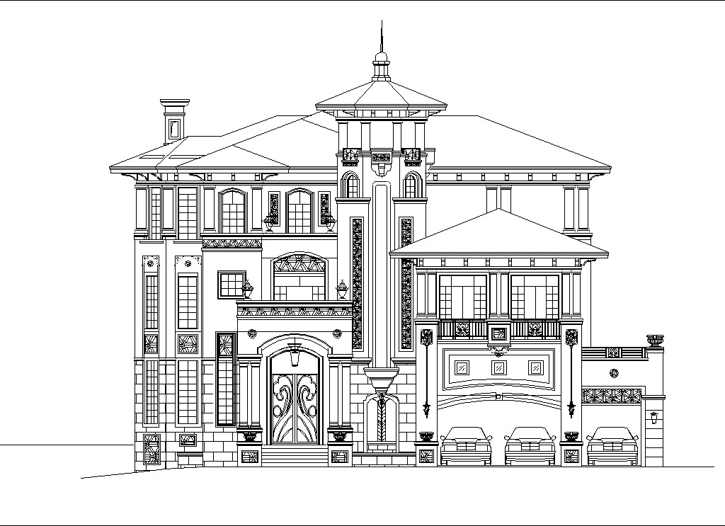 Luxury Villa Plans 3 Cad Files Dwg Files Plans And