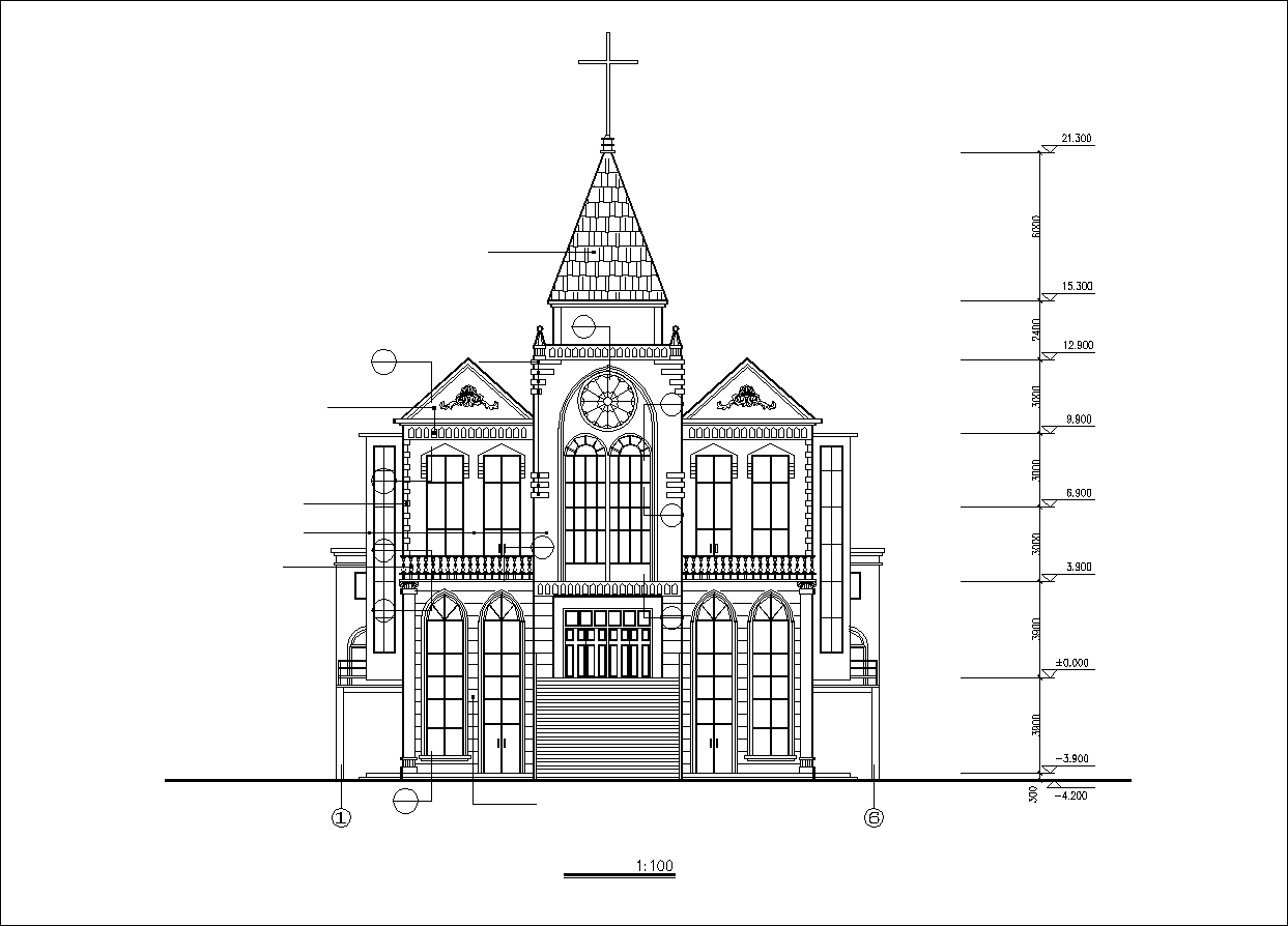 Church Elevation Plan : Church drawings v 】★ cad files dwg plans and details