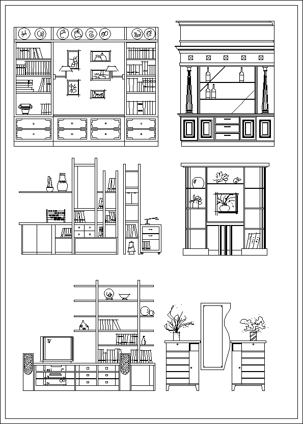 Elevation Plan In Autocad : Furniture design elevation】★ cad files dwg plans