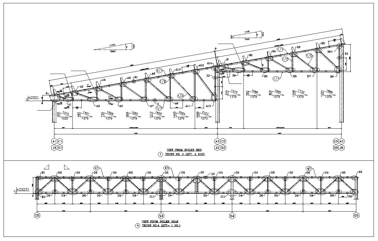 Truss Structure Details V7 Cad Files Dwg Files Plans