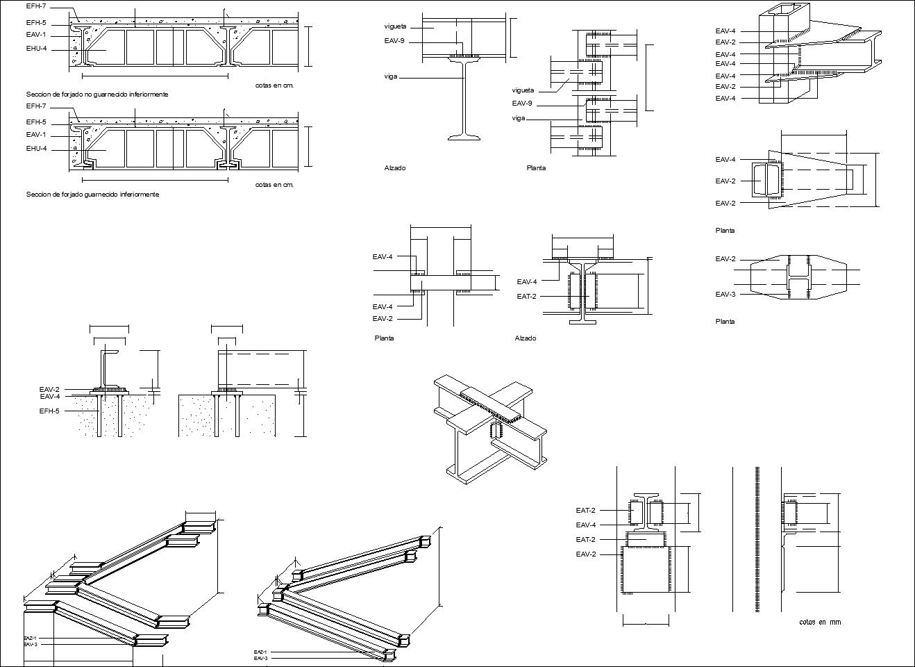 Steel Structure Details V1】★ Cad Files Dwg Files Plans