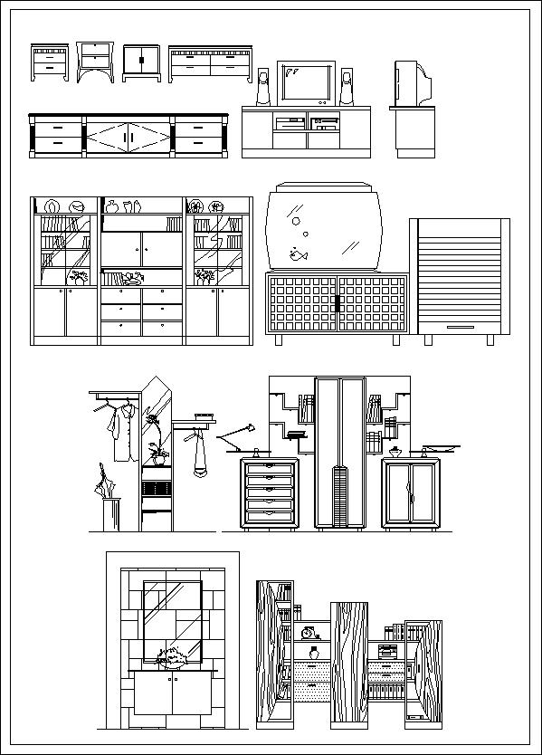 Furniture design elevation cad files dwg files plans - Blocchi cad divani ...