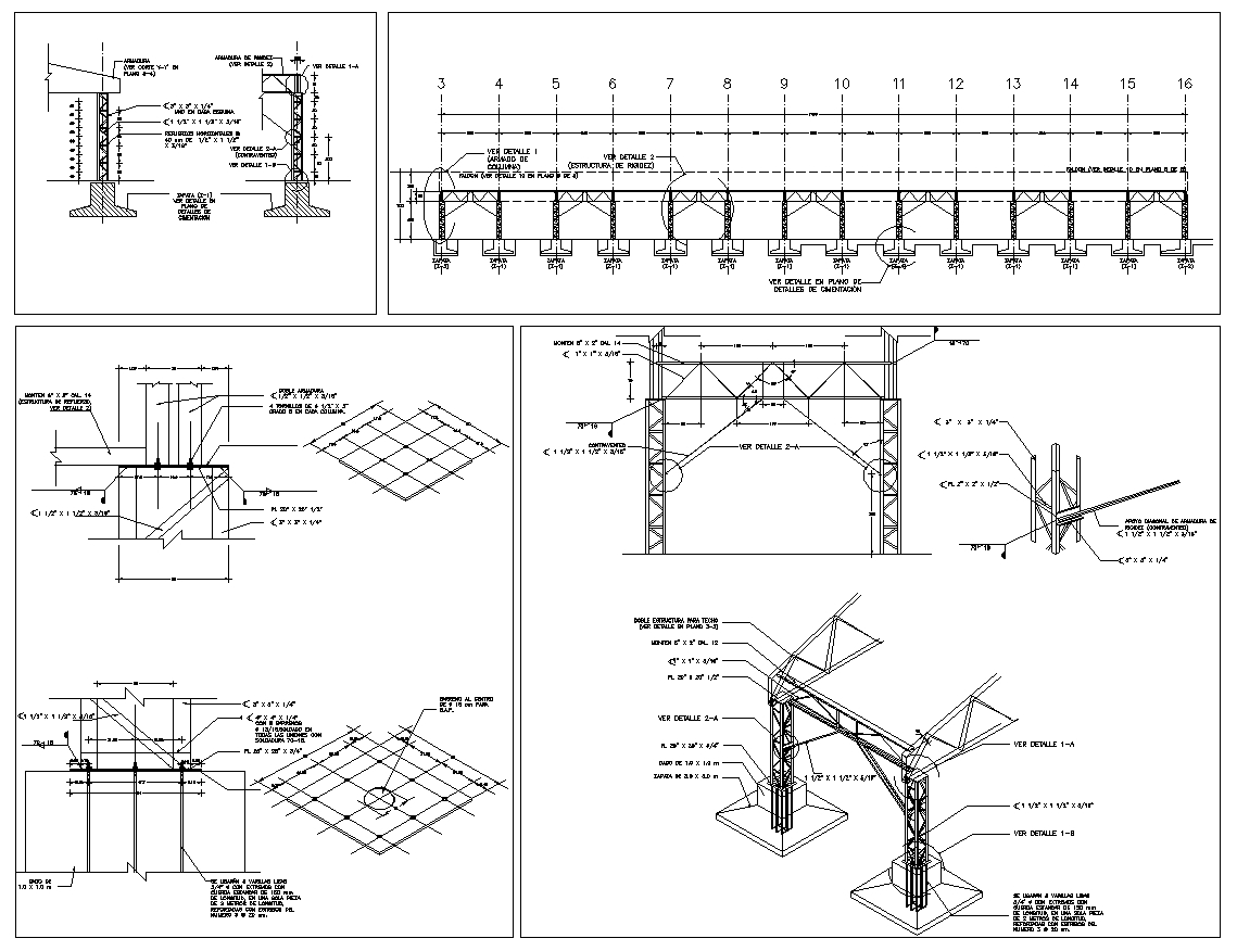 Steel Structure Details V4】★ Cad Files Dwg Files Plans