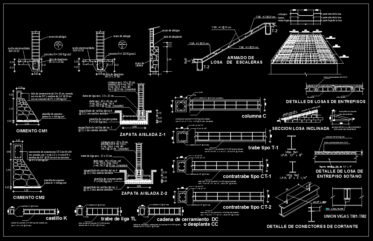 Concrete Details】★ Cad Files Dwg Files Plans And Details
