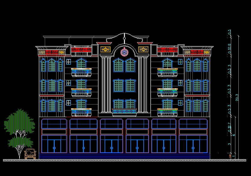 Building Elevation 1】★ Cad Files Dwg Files Plans And