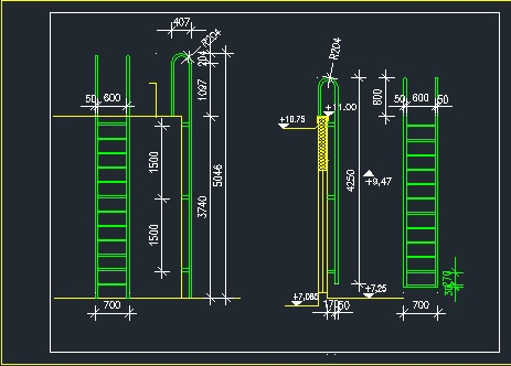 Steel Ladder For Pool Cad Files Dwg Files Plans And