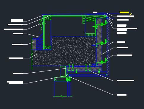 Window Head Detail @ Parapet - CAD Files, DWG files, Plans and Details