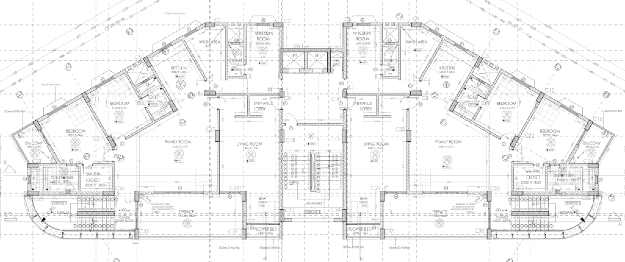 ah - residential building - working drawing