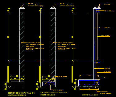 Boundary Wall Cad Files Dwg Files Plans And Details