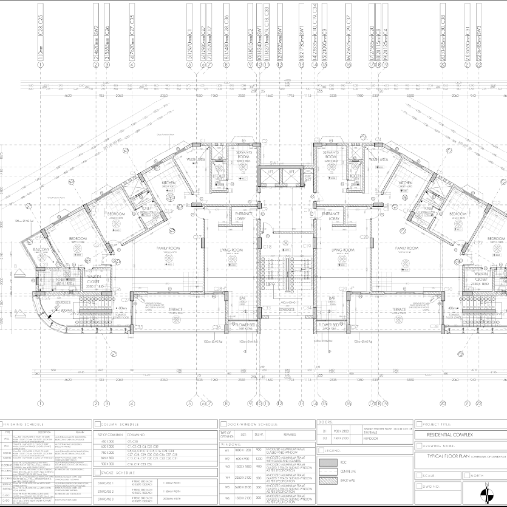 Ah residential building working drawing typical for Residential building plans dwg