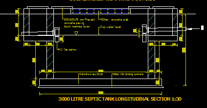 septic tank cad files dwg files plans  details