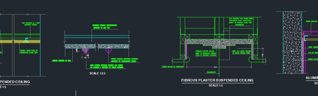 Various Suspended Ceiling Details Cad Files Dwg Files Plans And Details