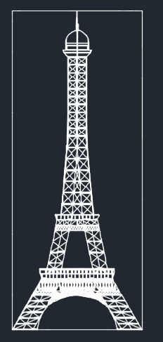 Eiffel Tower Elevation Cad Files Dwg Files Plans And