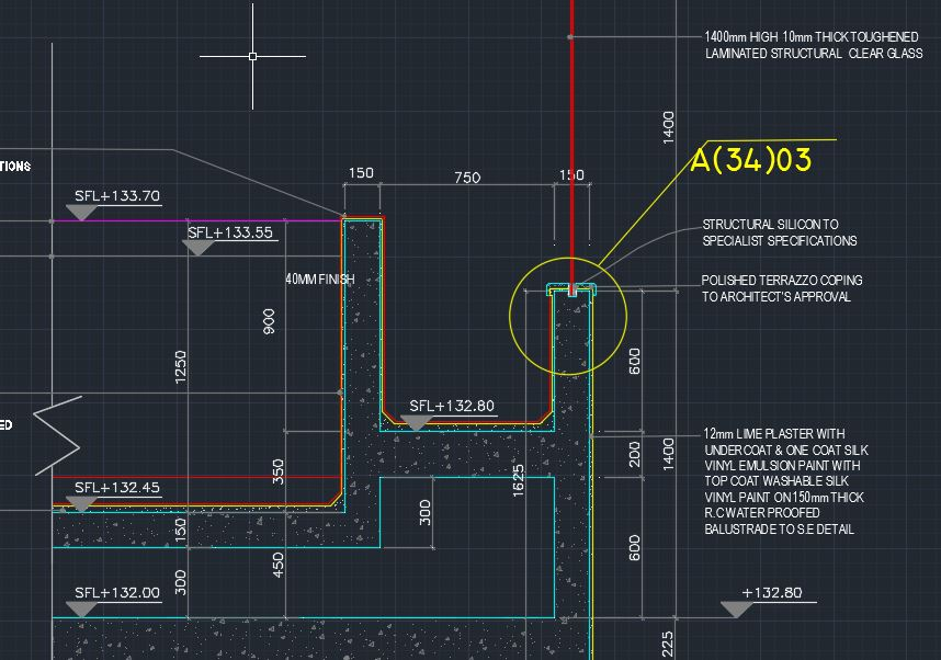 Roof Top Pool Detailed Sections With Details Cad Files