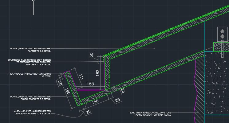 Typical Gutter Detail Cad Files Dwg Files Plans And