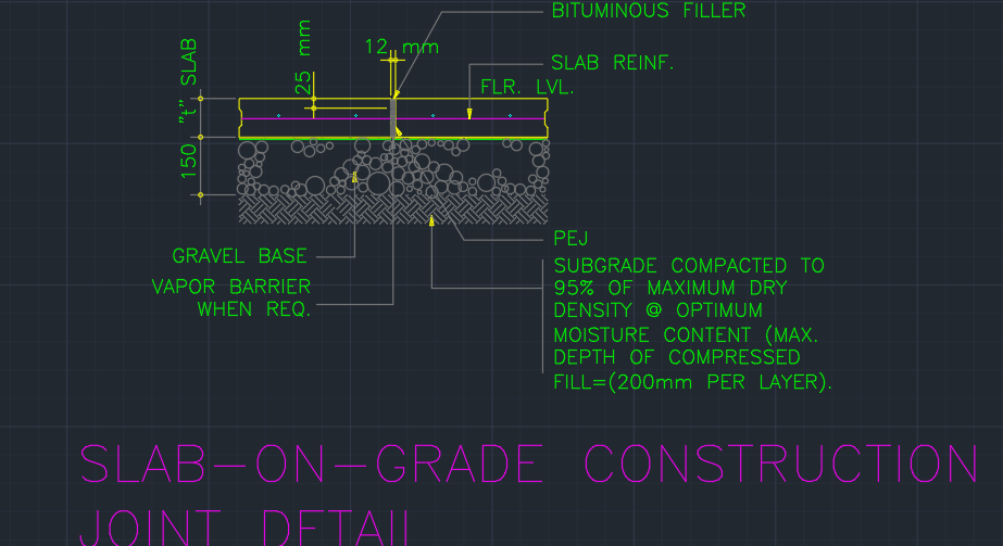 Sog Construction Joint Detail Cad Files Dwg Files