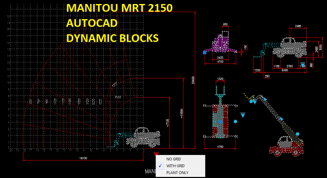 Manitou Mrt 2150 Dynamic Block Cad Files Dwg Files