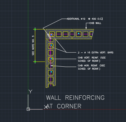 Wall Reinforcing At Corner Cad Files Dwg Files Plans