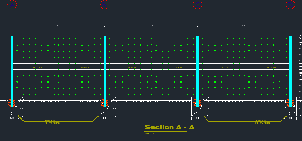 Pleasing Barbed Wire Fence Cad Files Dwg Files Plans And Details Wiring Cloud Hisonuggs Outletorg