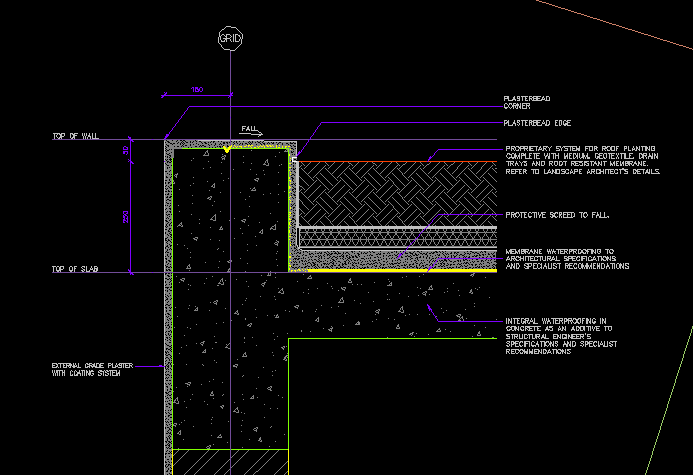 Typical Render Wall Details Cad Files Dwg Files Plans