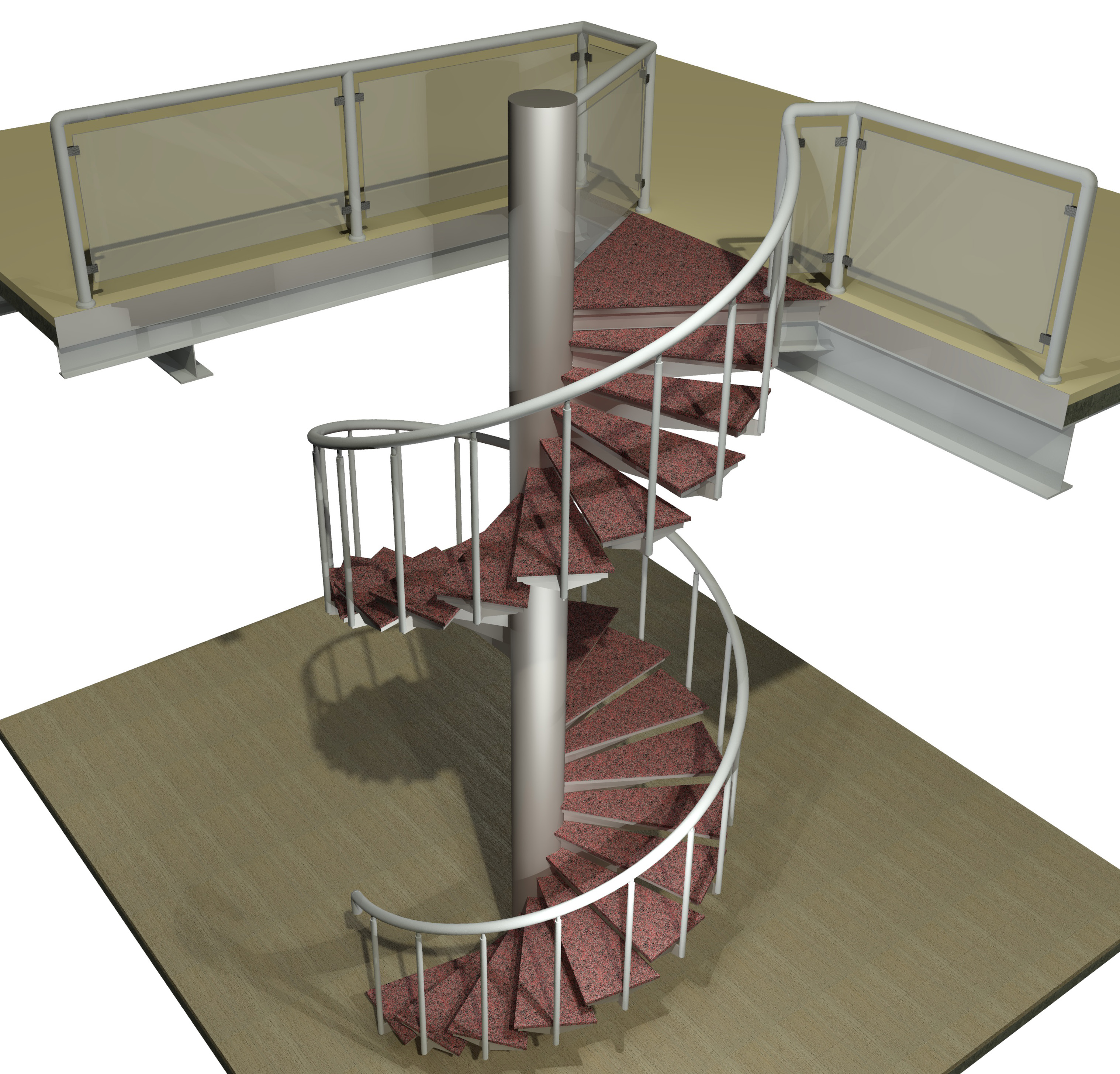 Spiral staircase 3d model cad files dwg files plans Spiral stair cad