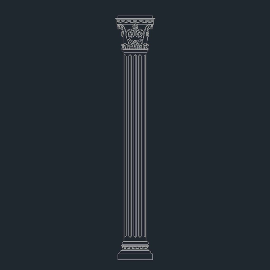 Corinthian Column Cad Files Dwg Files Plans And Details