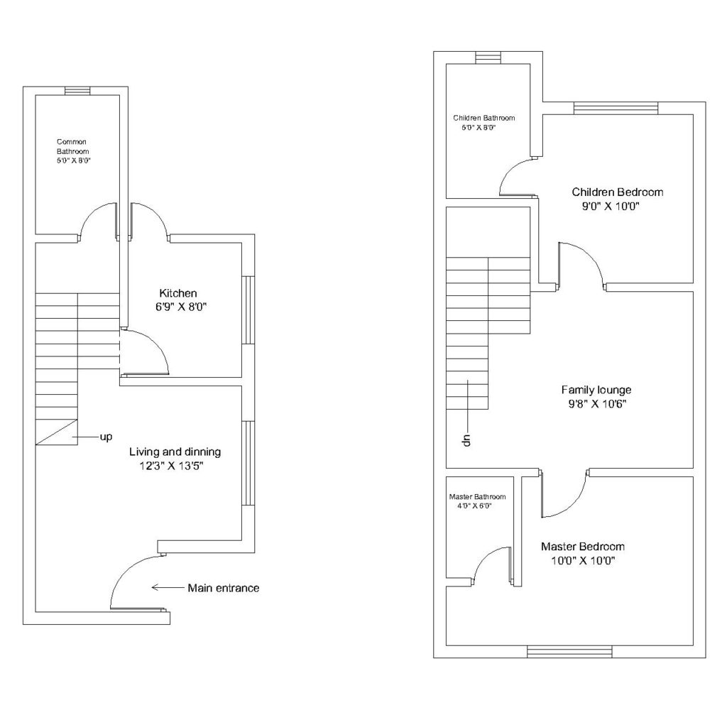 Duplex house cad files dwg files plans and details for House plan cad file