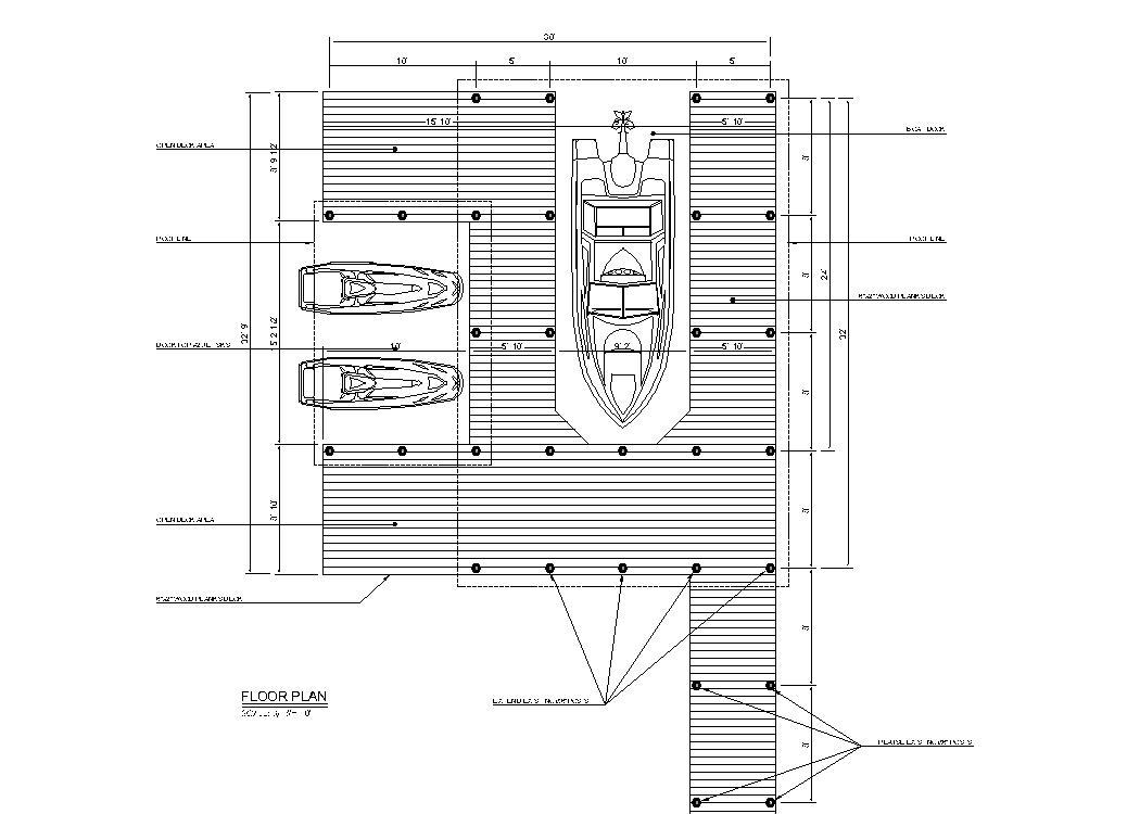 Boat dock design - CAD Files, DWG files, Plans and Details