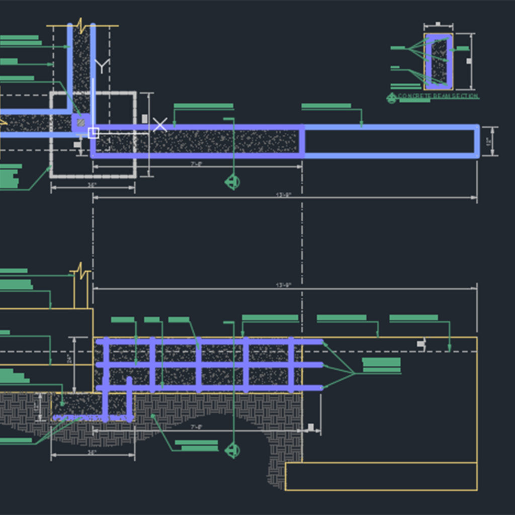 Concrete beam detail - CAD Files, DWG files, Plans and Details