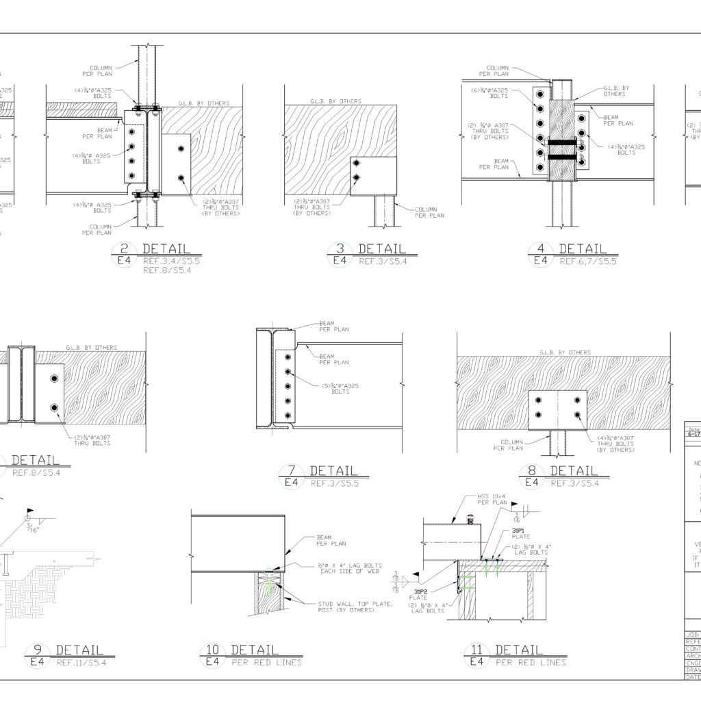 STEEL BEAM DETAILS - CAD Files, DWG files, Plans and Details