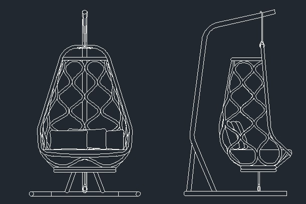 Swing Chair Cad Files Dwg Files Plans And Details
