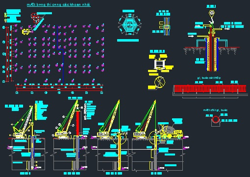 Technological scheme of drilling piles - CAD Files, DWG files, Plans and  Details