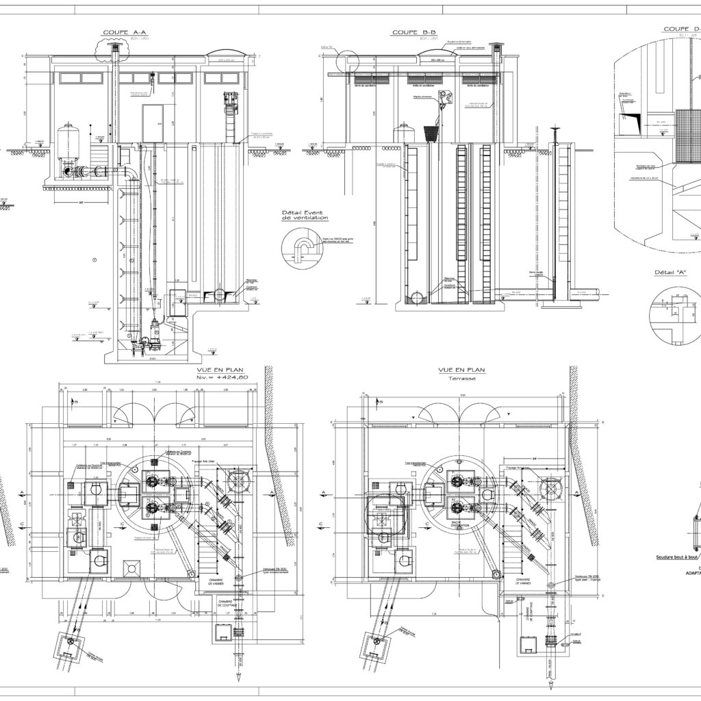 Pumping Station For Wastewater Cad Files Dwg Files