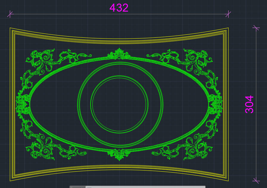 Classic ornamental design - CAD Files, DWG files, Plans and Details