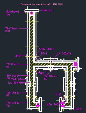 Peri Formwork For Elevator Shaft Cad Files Dwg Files